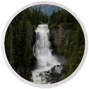 Round Beach Towel featuring the photograph Alexander Falls by Rod Wiens