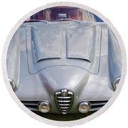 Alfa Romeo 1900 Ss Zagato Berlinette Round Beach Towel by Maj Seda