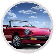Alfa Spider Round Beach Towel