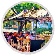 Alfresco Round Beach Towel by Wallaroo Images