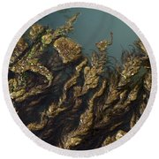 Algae Round Beach Towel by Ron Harpham