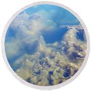 Algae Stalagmites Round Beach Towel