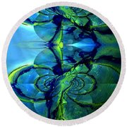 Round Beach Towel featuring the photograph Alien Dna by Robert Kernodle