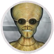 Alien Round Beach Towel