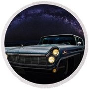Alien Lincoln Roswell Saturday Night Round Beach Towel
