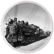 All Aboard Round Beach Towel by Robert Bales