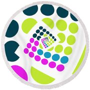 All About Dots - 057 Round Beach Towel