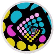 All About Dots - 059 Round Beach Towel