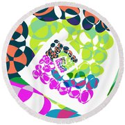 All About Dots - 061 Round Beach Towel