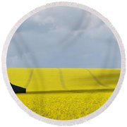 All Across The Land 7 Round Beach Towel by Wendy Wilton