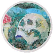 All Along The Watchtower Round Beach Towel