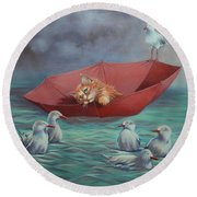 All At Sea Round Beach Towel by Cynthia House
