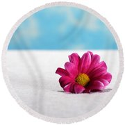 All By Myself Round Beach Towel