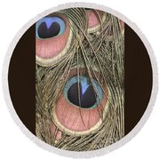 All Eyes On Me Round Beach Towel