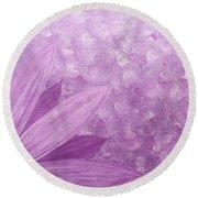 All Purple Flower Round Beach Towel