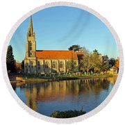 All Saints Church Marlow Round Beach Towel