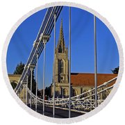 All Saints Church Round Beach Towel