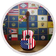 All State Flags Round Beach Towel