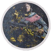 All That Glitters Round Beach Towel by Roberto Prusso