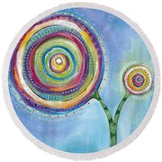All You Need Is Love Round Beach Towel by Tanielle Childers
