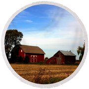 Allan Street Barn Round Beach Towel by John McGraw