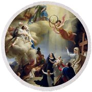 Allegory In Honour Of The Birth Of Henri De France 1820-83 Duke Of Bordeaux In 1820, 1821 Oil Round Beach Towel
