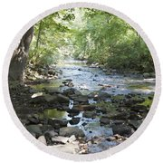 Round Beach Towel featuring the photograph Allen Creek by William Norton