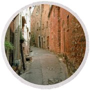Alley In Tourrette-sur-loup Round Beach Towel