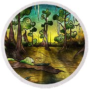 Alligator Swamp Round Beach Towel
