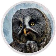 Allocco Della Lapponia - Tawny Owl Of Lapland Round Beach Towel