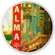 Alma Round Beach Towel