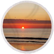 Round Beach Towel featuring the photograph Almost Up by Eunice Miller