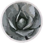 Aloe Vera Abstract Round Beach Towel by Christiane Schulze Art And Photography