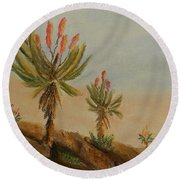 Aloes Round Beach Towel