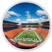 Aloha Stadium Round Beach Towel