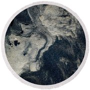 Round Beach Towel featuring the photograph Alone Again by Christiane Hellner-OBrien