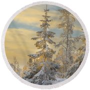 Round Beach Towel featuring the photograph Alone But Strong by Rose-Maries Pictures