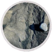 Round Beach Towel featuring the photograph Alone by Christiane Hellner-OBrien