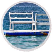 Alone Together 2 Round Beach Towel by Gary Slawsky