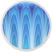 Along The Blue Nile Round Beach Towel