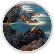 Along The Coastline Round Beach Towel