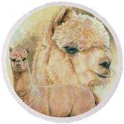 Alpaca Round Beach Towel