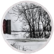 Alpine Barn Michigan Round Beach Towel