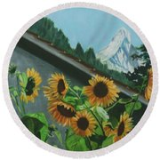Alpine Delight Round Beach Towel
