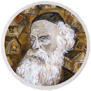 Alter Rebbe Round Beach Towel