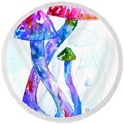 Altered Visions II Round Beach Towel