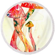 Altered Visions IIi Round Beach Towel