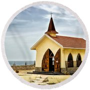 Alto Vista Chapel Aruba Round Beach Towel