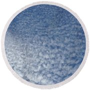 Round Beach Towel featuring the photograph Altocumulus Clouds by Jason Williamson