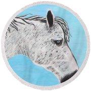 Alvaro Stallion Round Beach Towel